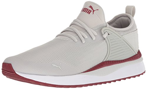 PUMA Men's Pacer Next Cage Sneaker, Gray Violet-Pomegranate, 10 M US