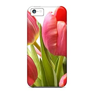 Tpu Cases Covers Compatible For Iphone 5c/ Hot Cases/ Pink Tulips