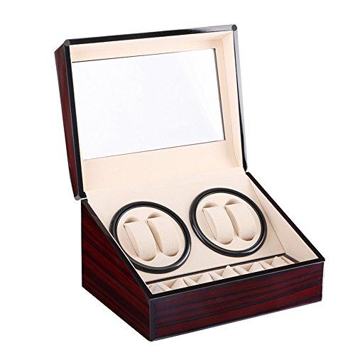 Luxury Watch Winder - Kranich Automatic Watch Winder Box Luxury Wooden Storage Case