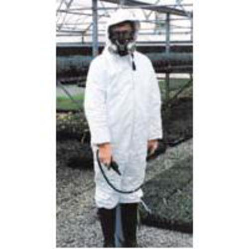 Tyvek P120 Dupont Olefin Disposable Safety Coveralls - White (Large)