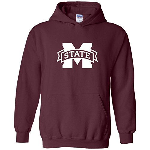 UGP Campus Apparel AH02 - Mississippi State Bulldogs Primary Logo Hoodie - Large - Maroon