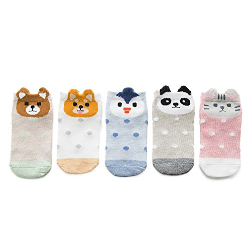 Cartoon Baby Girls Boys Ankle Socks Summer Breathable Toddler Low Cut Socks 5 Pairs