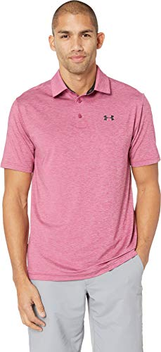 - Under Armour Golf Men's UA Playoff Polo Charged Cherry/Charged Cherry/Rhino Gray Large