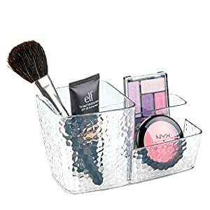 InterDesign Rain Cosmetics Organizer Cup, Clear - 3.9H x 6W x 3.5D inches 48350