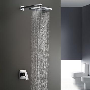 Bathroom Shower Heads | Lightinthebox Chrome Wall Mount Bathroom Bath Shower System Fixed