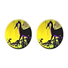 maleficent dragon Custom Style Cork Pad Mat Round Coasters 2 Piece Set Cup Mat Mug Can Water Bottle Drink