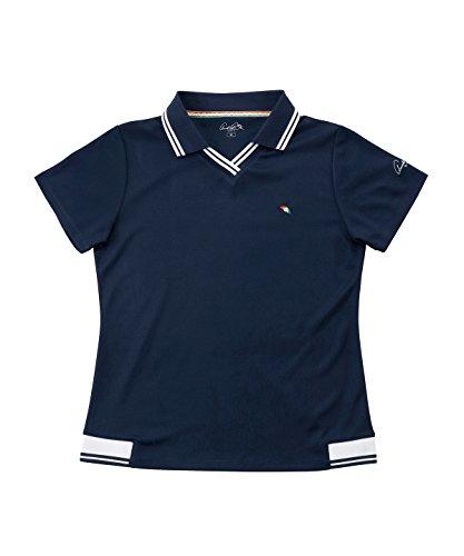 精通したレガシータヒチアーノルドパーマー レディース ゴルフ ポロシャツ 半袖 ロゴ半袖シャツ AP220301H02 NV O