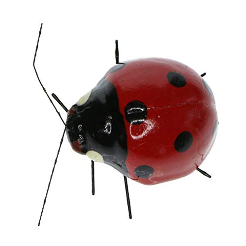lwingflyer 5pcs Garden Ornaments Animals Simulation Ladybugs Insect Decor Refrigerator Magnets for Home Outdoor Decoration Landscape Education Model Toys