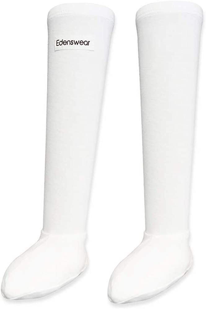 Edenswear Chaussettes hydratantes pour b/éb/é avec ecz/éma infus/é en zinc