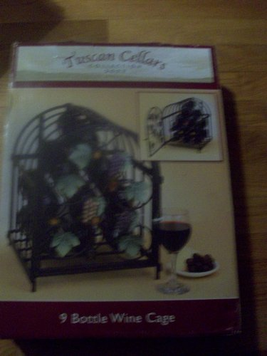 Tuscan Cellars Collection 2003 9 Bottle Wine Cage Wrought Iron