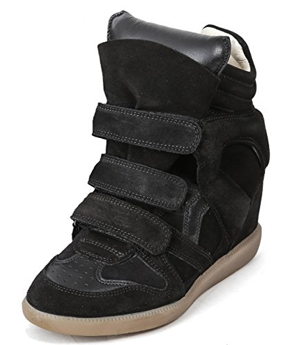 isabel-marant-womens-bekett-velcro-snap-high-top-leather-sneakers-36-black