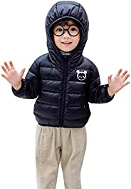SnowJoy Kids Winter Jacket Unisex Down Jacket Puffer Coat Hooded and Padded Coat Light-Weight for Boys, Girls,