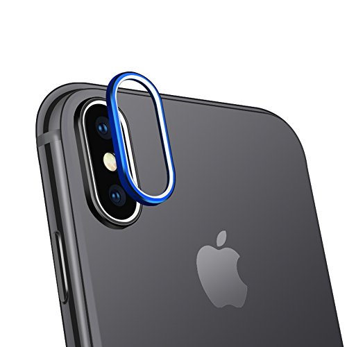 Sakula Camera Lens Protector Ring Plating Aluminum for iPhone X Camera Case Cover Ring Blue
