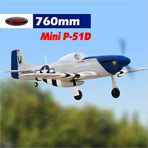 DYNAM RC Airplane Mini P-51 762mm Wingspan - BNP