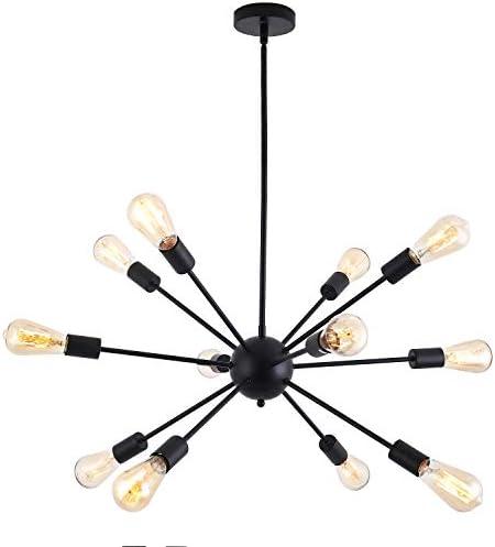 Sputnik Chandelier,12 Lights Modern Chandelier Pendant Lighting Industrial Vintage Hanging Dining Room Light