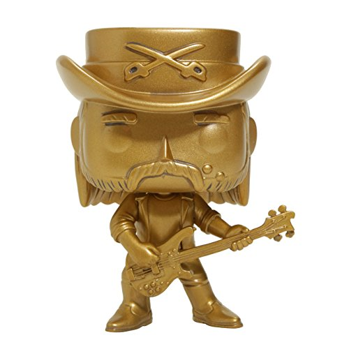 Motorhead Collectible: 2017 Funko Pop! Rocks Lemmy Kilmister Limited Edition Gold Figure (Hot Topic Guitar)