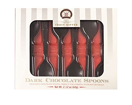 Truly Gifted Milk/Dark Chocolate Spoons Gift Box 2.12oz (Dark Chocolate)