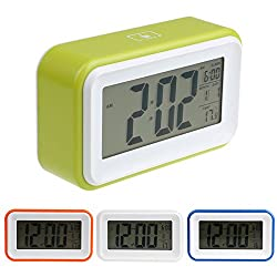 New Electronic Digital Clock LED Light Control Alarm Thermometer ON