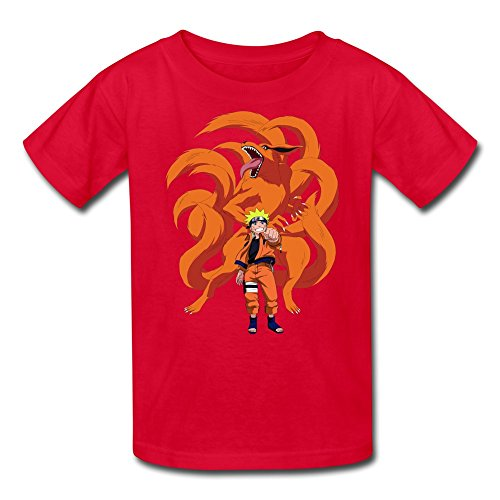 Price comparison product image Kid's Funny Kyuubi And Naruto T-shirts Size XL Red By Mjensen