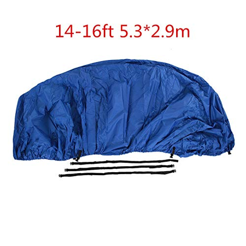 - INDEPENDENT-NEWBIE Polyester Boat PVC Cover Boat Accessories Marine Taffeta Heavy Duty Trailerable,11 22ft,Classic Waterproof, Uv Anti,Marine,8