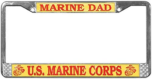 EGA Emblem Butler Online Stores Marine Corps License Plate Frame for Marine Dad Bundle with Marine Dad Decal