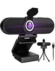 4K Webcam with Microphone,8 Megapixel Web Cam,Ultra HD Web Camera for Computers,Webcam for Laptop Desktop,USB Webcam with Privacy Cover,Pro Streaming Webcam for Video Calling