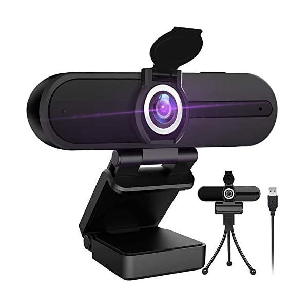 4K Webcam with Microphone 8 Megapixel Webcam Ultra HD PC Computer Web Camera Laptop Desktop