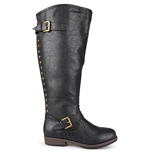 Brinley Co Women's Durango/ Spokane-xwc Riding Boot, Black, 7 Extra Wide Calf (Studded Knee High Boots)