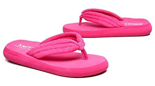 Cattior Dames Zomer Outdoor Strand Dames Slipper Flip Flops Slippers Rose Rood