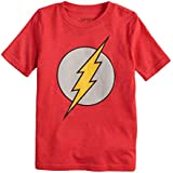 Jumping Beans Boys 4-10 DC Comics The Flash Logo Graphic Tee 4 Red Heather