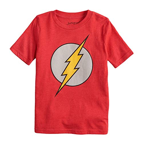Jumping Beans Boys 4-10 DC Comics The Flash Logo Graphic Tee 10 Red -