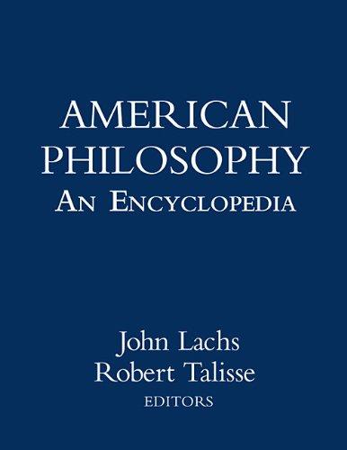 Download American Philosophy: An Encyclopedia Pdf