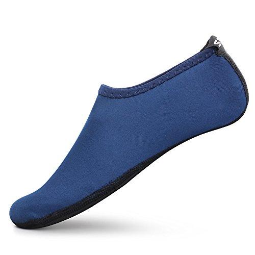0f9d2f216c9830 SENFI Unisex Wasser Haut Schuhe Barfuß Aqua Socken für  Pool-Wasser-Aerobic-Übung