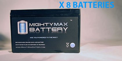 12V 8Ah Fire Alarm Battery Replaces 12V 7Ah Edwards EST 12V6A5 - 8 Pack - Mighty Max Battery brand product