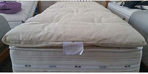 Futon Italy - Corrector de colchón de 4 cm de Altura, cubrecolchón ...