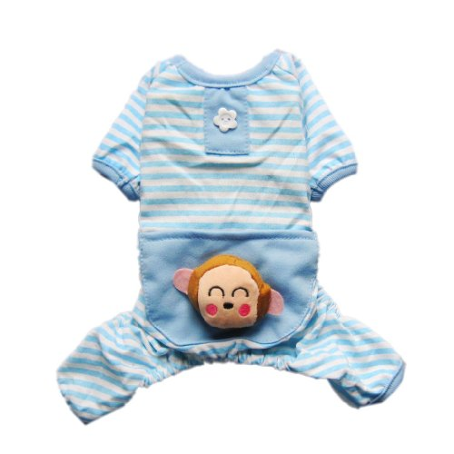 Adorable Cozy Dog Pajamas for Dog Shirt Dog Jumpsuit Dog Clothes Cute Monkey Pet Clothes Free Shipping,S, My Pet Supplies