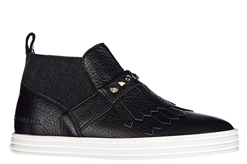 Hogan Rebel slip on donna in pelle sneakers nuove originali r182 mid cut nero