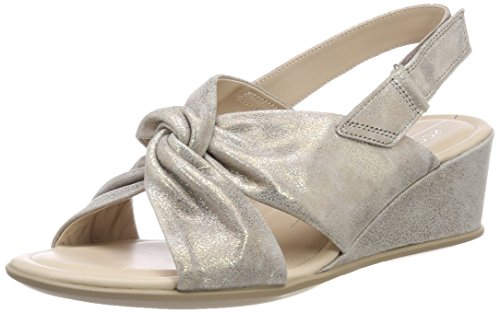 Ecco Damen Shape 35 Slingback Sandalen Silber (moon Rock)