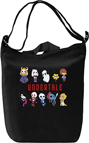 Undertale Borsa Giornaliera Canvas Canvas Day Bag| 100% Premium Cotton Canvas| DTG Printing|