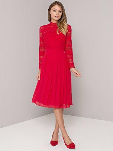 red Vestido Bayley London Red Re De Chi Para Mujer Fiesta FCpSWw