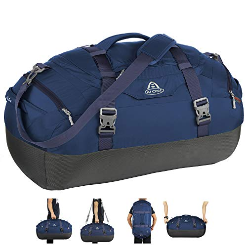 AIONE Duffel Backpack Bag 4-Way Sports Gym Backpack Travel Luggage Bags with Shoe Compartments 55L