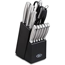 Oster 70561.14 Baldwyn 14-Piece Cutlery Block Set, Brushed Satin by Gibson