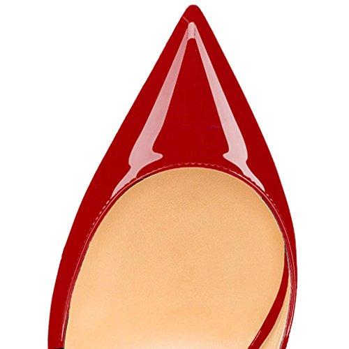 Talloni Classiche Donna Tacco Col Trasversale elashe Col Scarpe Scarpe Scarpe Tacco Red da Cinghia wqZEfxYv