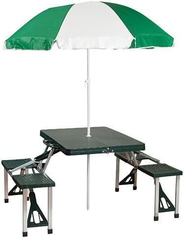 Foldable Picnic Table Set Folding Fold Up Bench Portable