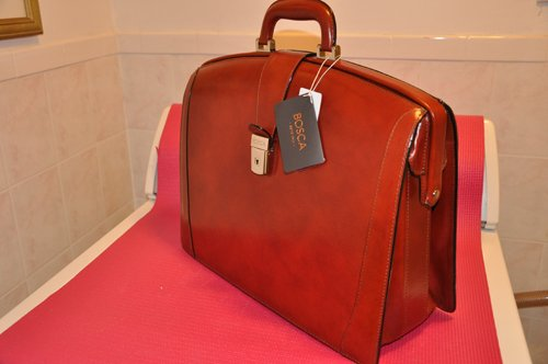Bosca Leather Partners Briefcase - Cognac Old Leather by Bosca Leather
