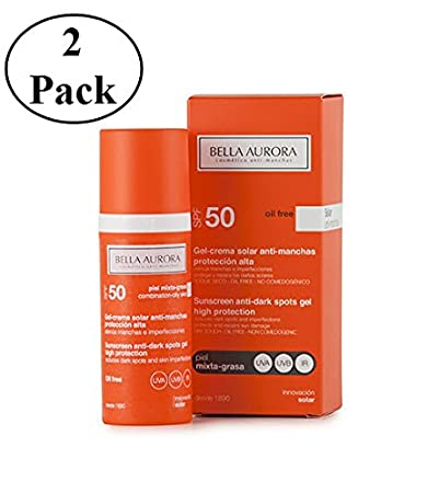 Bella Aurora Sunscreen Anti-dark Spots Gel Spf 50+ Combined-oily Skin 50ml