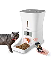SKYMEE 8L Smart Automatic Pet Feeder Food Dispenser for Cats & Dogs - 1080P Full HD Pet Camera Treat Dispenser with Night Vision and 2-Way Audio, Wi-Fi Enabled App for iPhone and Android(AI-B20 Pro)