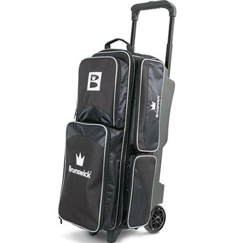 Brunswick Edge Triple Roller Bowling Bag, Black