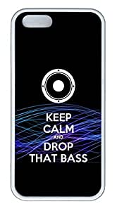 VUTTOO iPhone 5 Case, iPhone 5S Cases - VUTTOO Ultra Slim Fit White Rubber Case for iPhone 5/5s Drop That Bass Dubstep Scratch-Resistant Soft Rubber Back Bumper Case for iPhone 5/5S