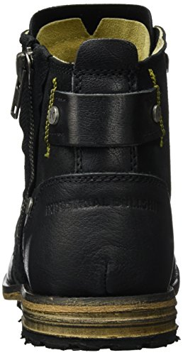 Yellow Cab Industrial M, Bottes Motardes Homme, Chair Noir (Black Black)